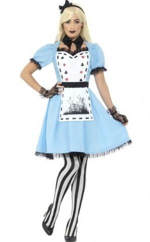 Dark Tea Party Alice in Wonderland plus size fancy dress costume